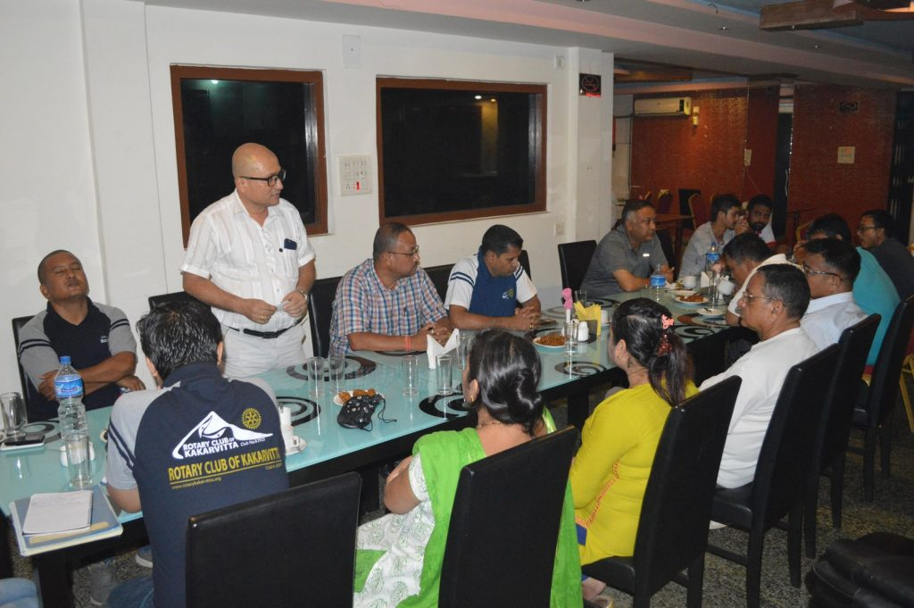 Weekly-Meeting-with-the-Guest-Speaker-DSP-Durga-Raj-Regmi-Rotary-Club-of-Kakarvitta-10