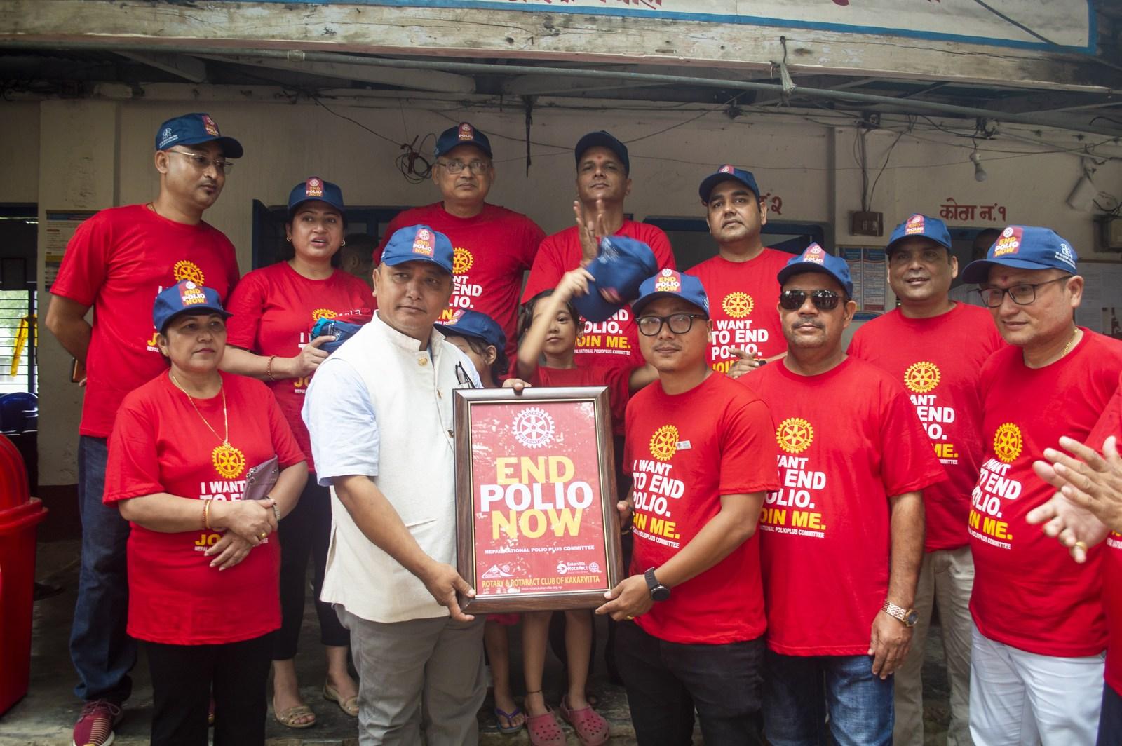 Polio Day In Ward Office Mechinagar Municipality Rotary Club Of Kakarvitta 4