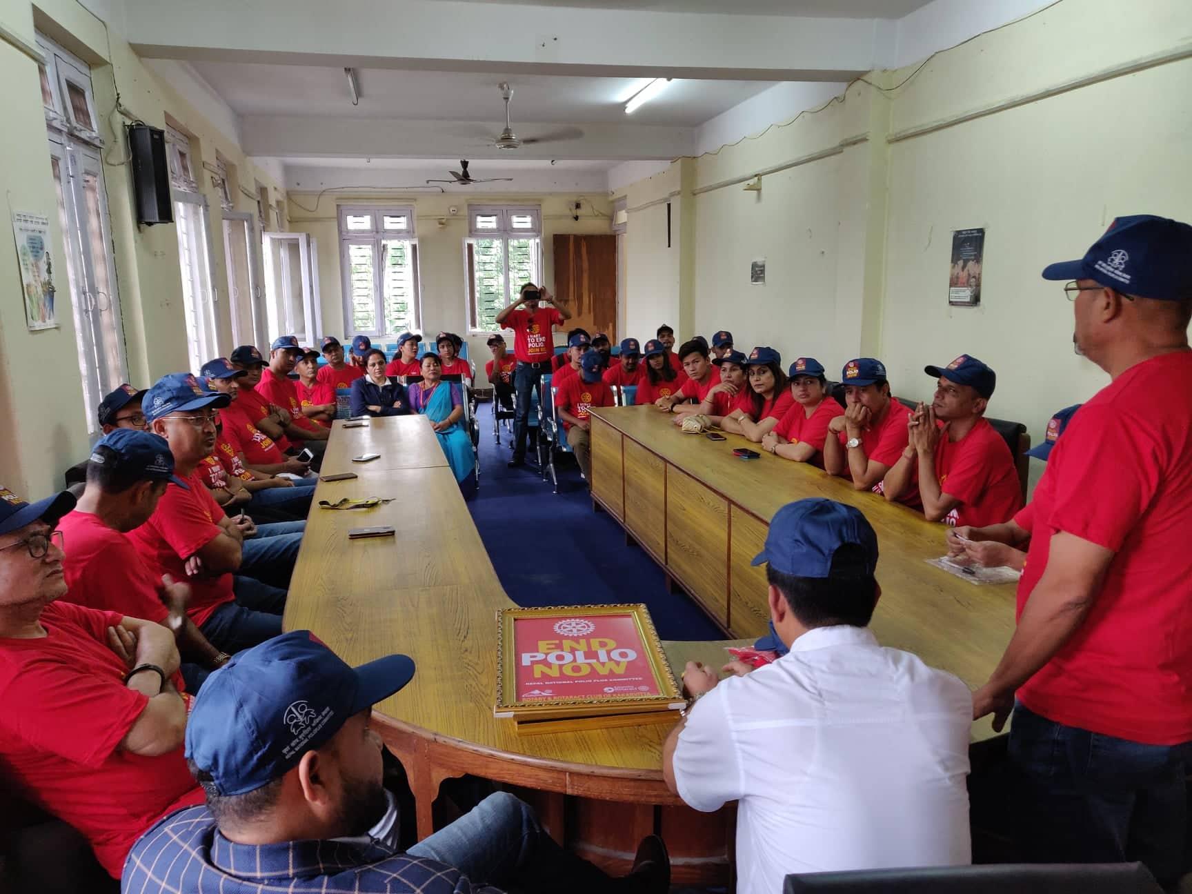 Polio Day In Ward Office Mechinagar Municipality Rotary Club Of Kakarvitta 5.1