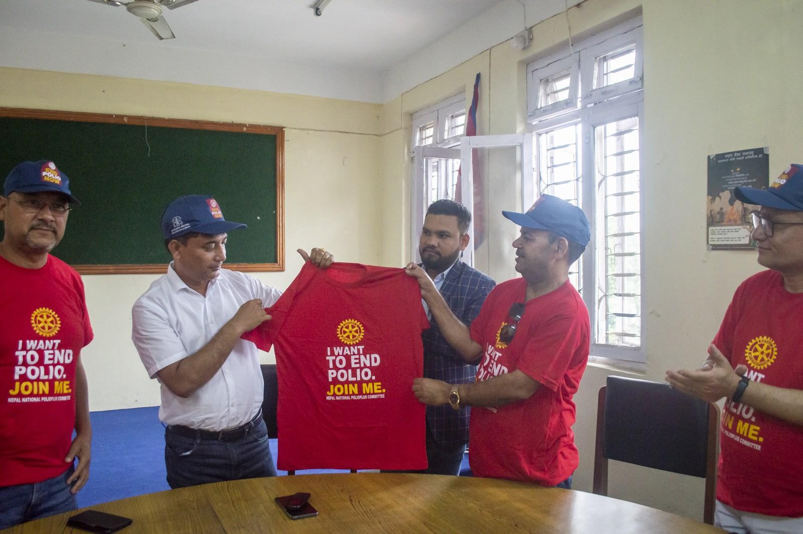 Polio Day In Ward Office Mechinagar Municipality Rotary Club Of Kakarvitta 5