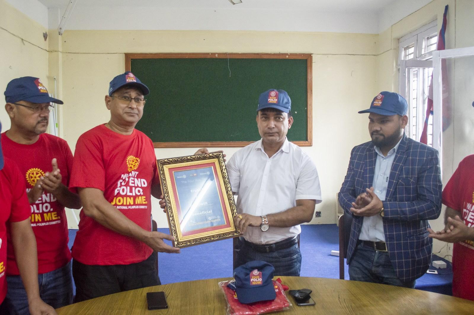 Polio Day In Ward Office Mechinagar Municipality Rotary Club Of Kakarvitta 6