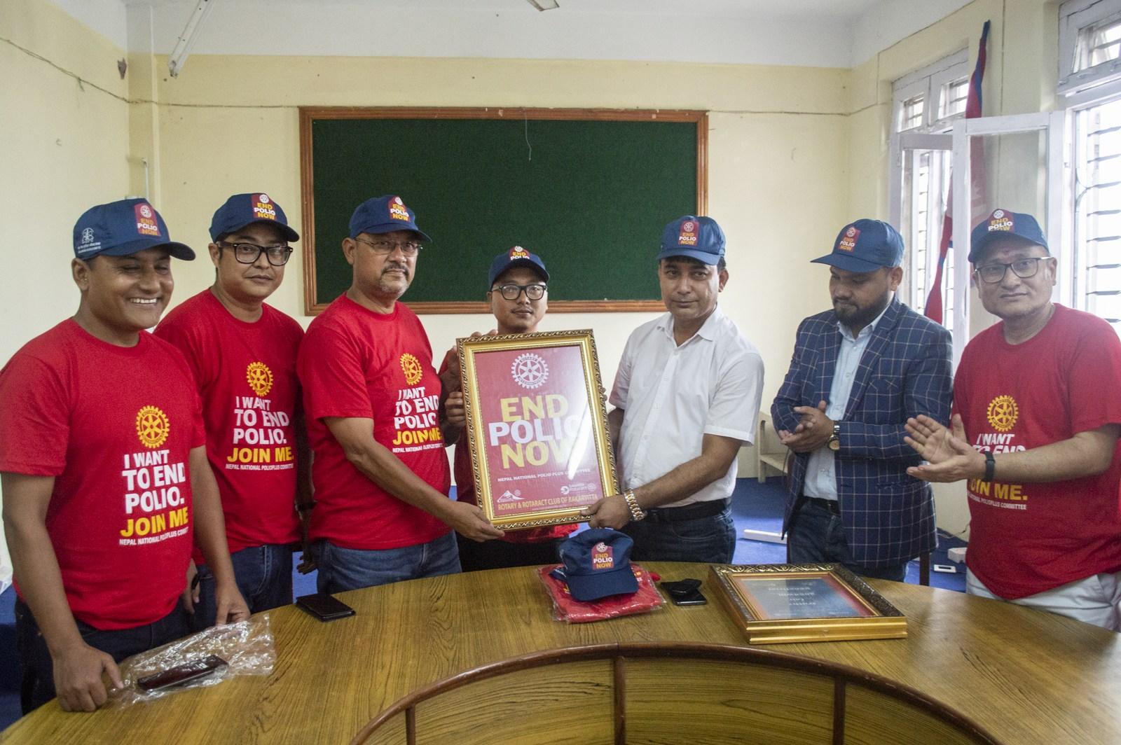 Polio Day In Ward Office Mechinagar Municipality Rotary Club Of Kakarvitta 7