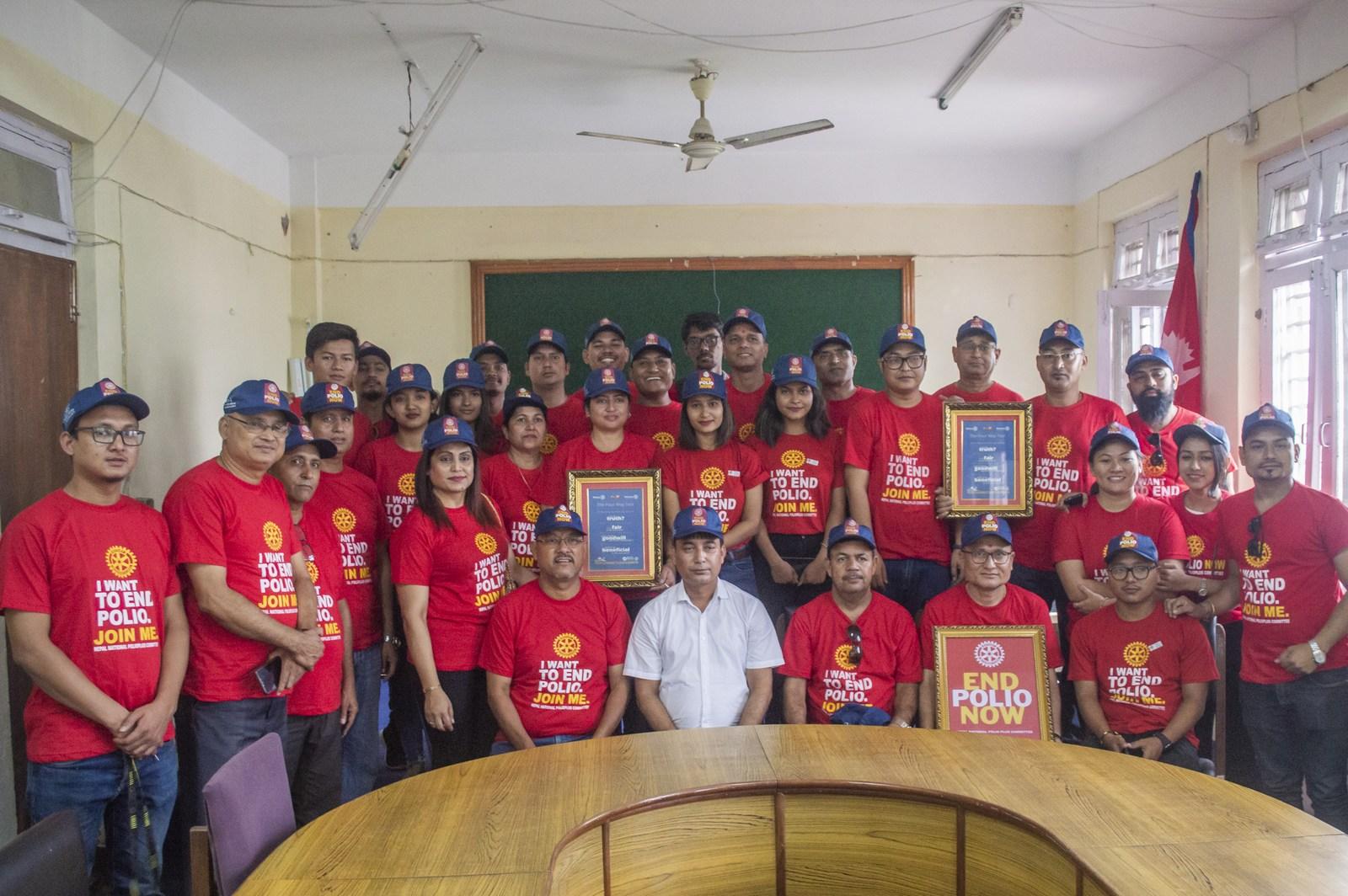 Polio Day In Ward Office Mechinagar Municipality Rotary Club Of Kakarvitta 8