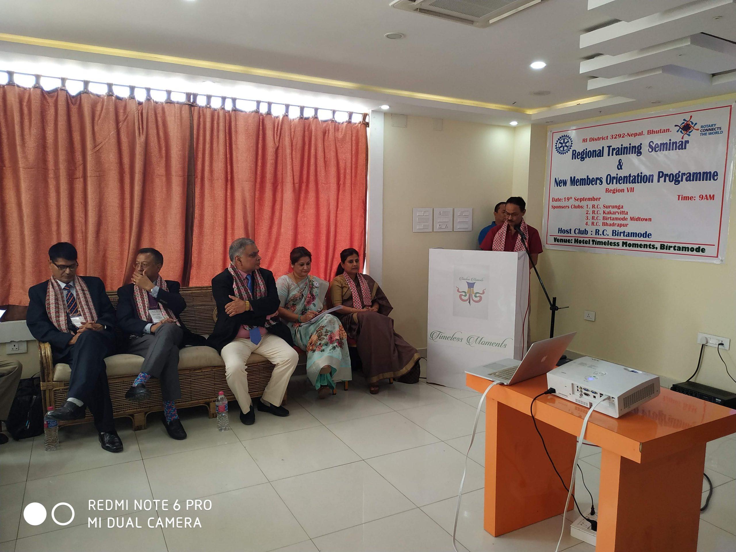 Attending Regional Training Seminar Rotary Club Of Kakarvitta 1