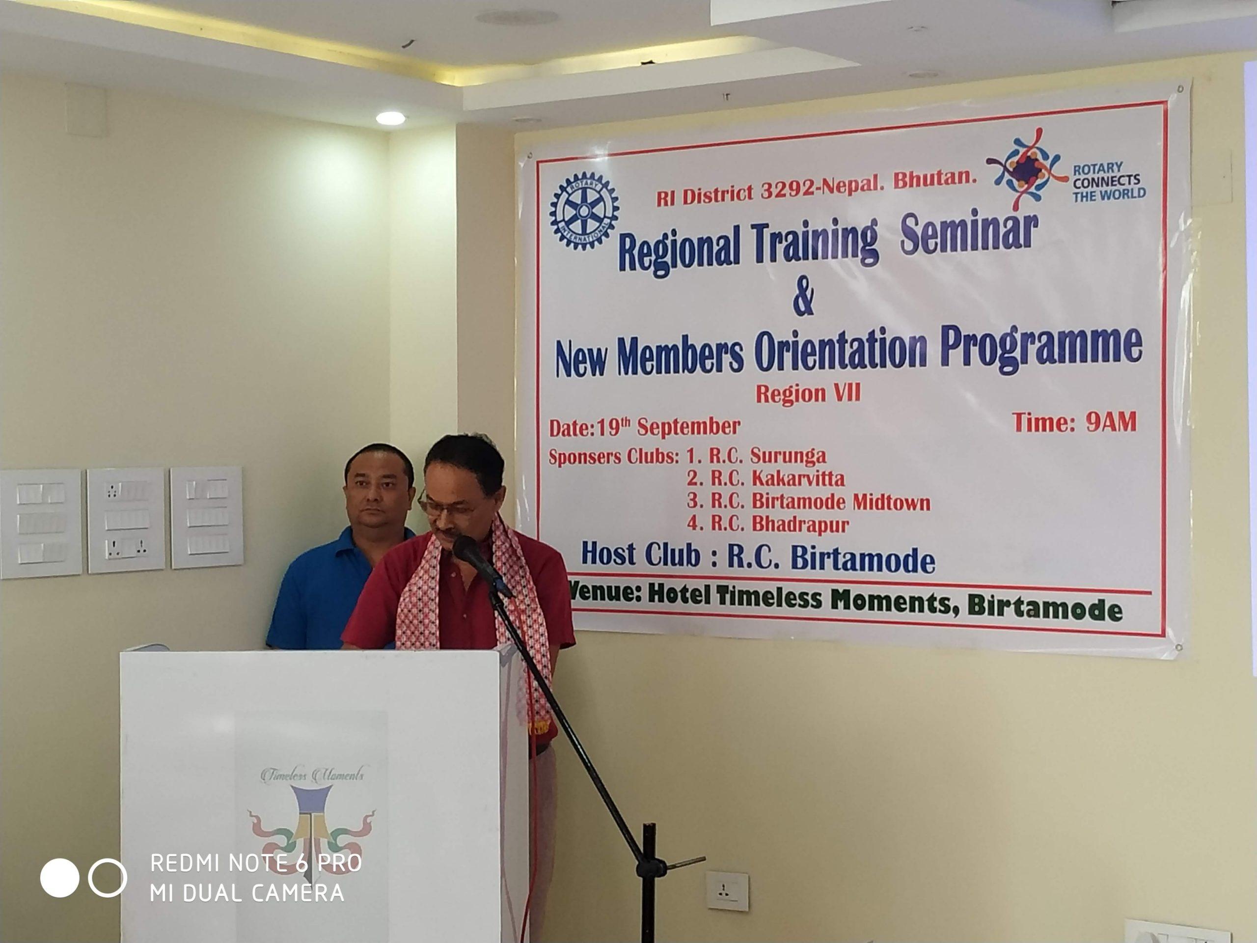 Attending Regional Training Seminar Rotary Club Of Kakarvitta 4