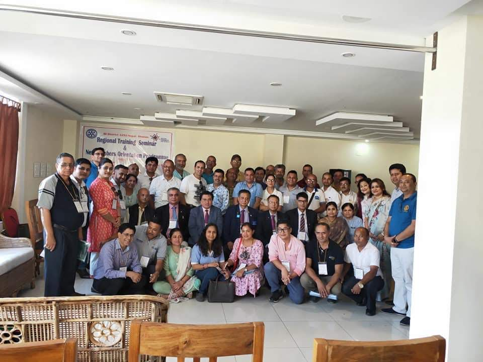 Attending Regional Training Seminar Rotary Club Of Kakarvitta 8