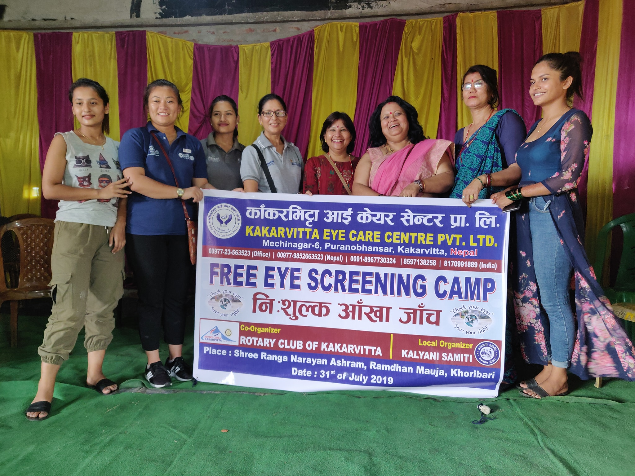 Diabetes Eye Screening Camp At Panitanki Rotary Club Of Kakarvitta 13