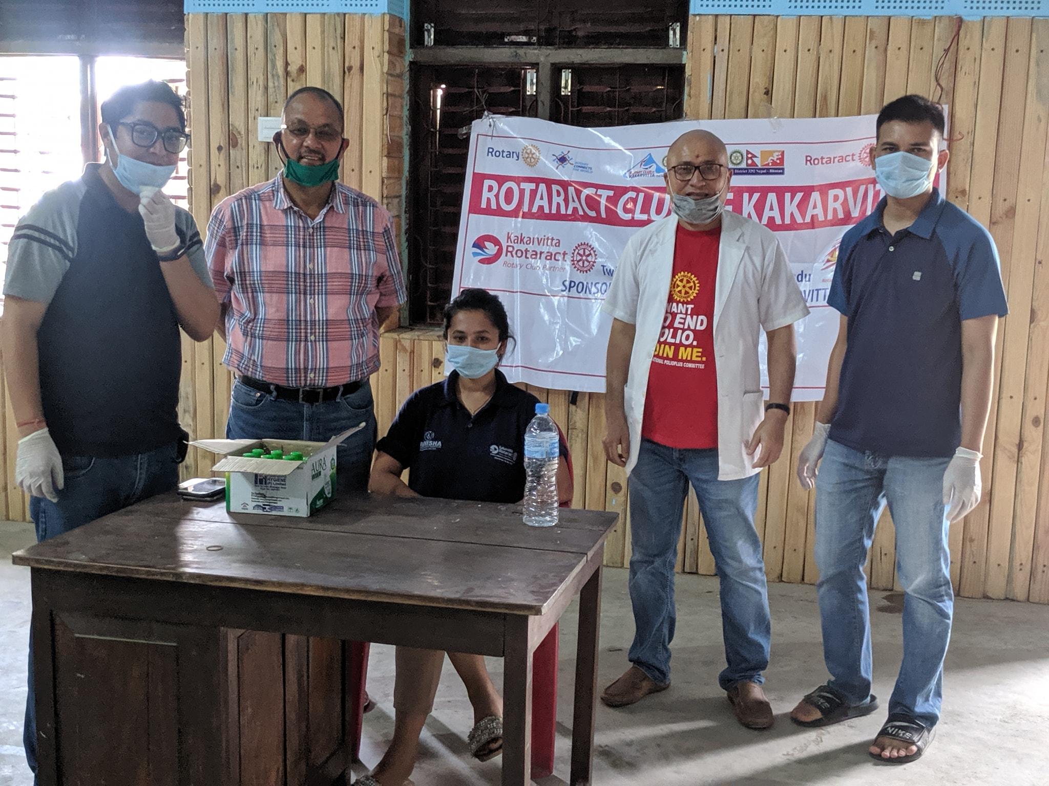 Hand Sanitizer Mask Distribution At Immunization Program 1
