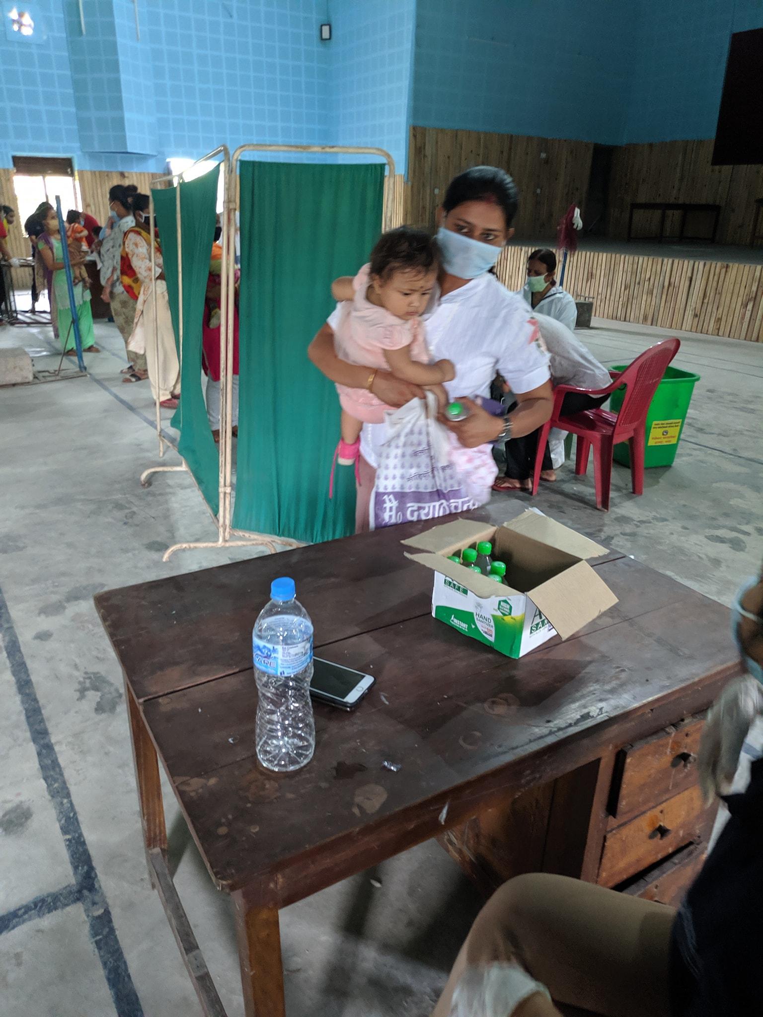 Hand Sanitizer Mask Distribution At Immunization Program 2