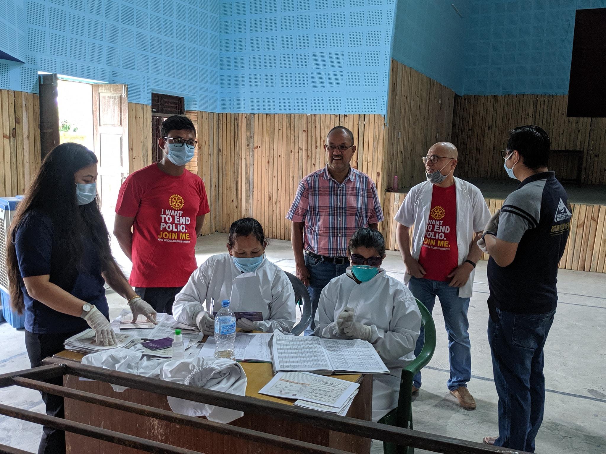 Hand Sanitizer Mask Distribution At Immunization Program 3