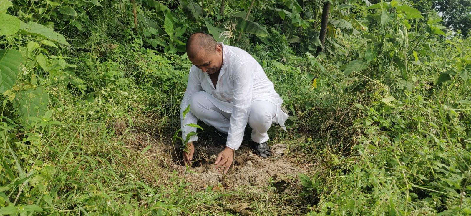 Rudraksha Plantation Program At Mechi Bishramalaya Rotary Club Of Kakarvitta 15