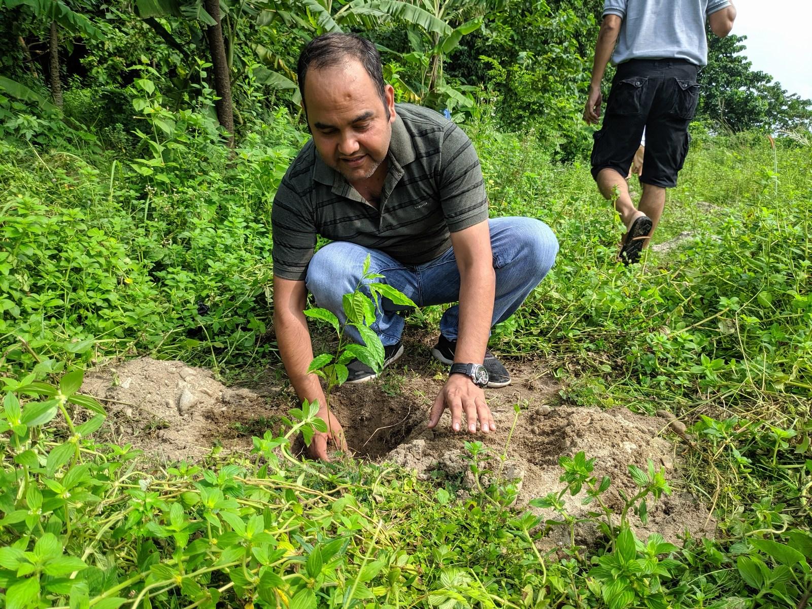 Rudraksha Plantation Program At Mechi Bishramalaya Rotary Club Of Kakarvitta 17