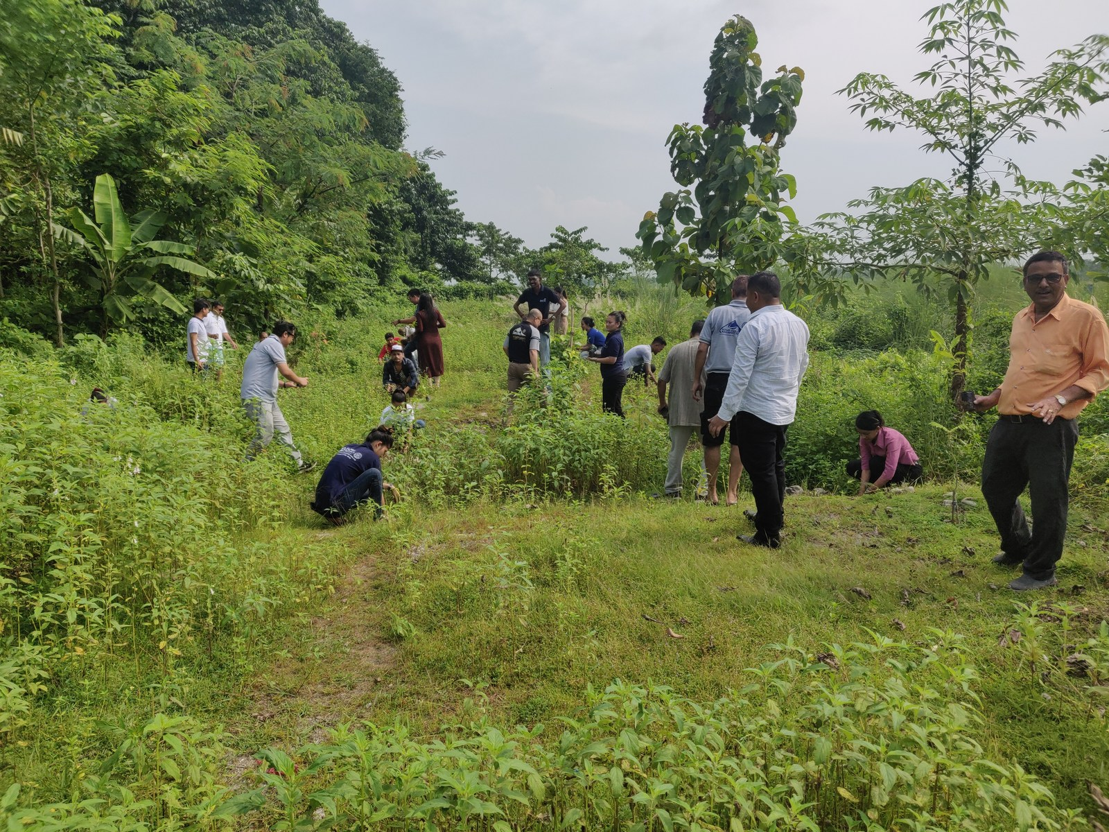 Rudraksha Plantation Program At Mechi Bishramalaya Rotary Club Of Kakarvitta 20