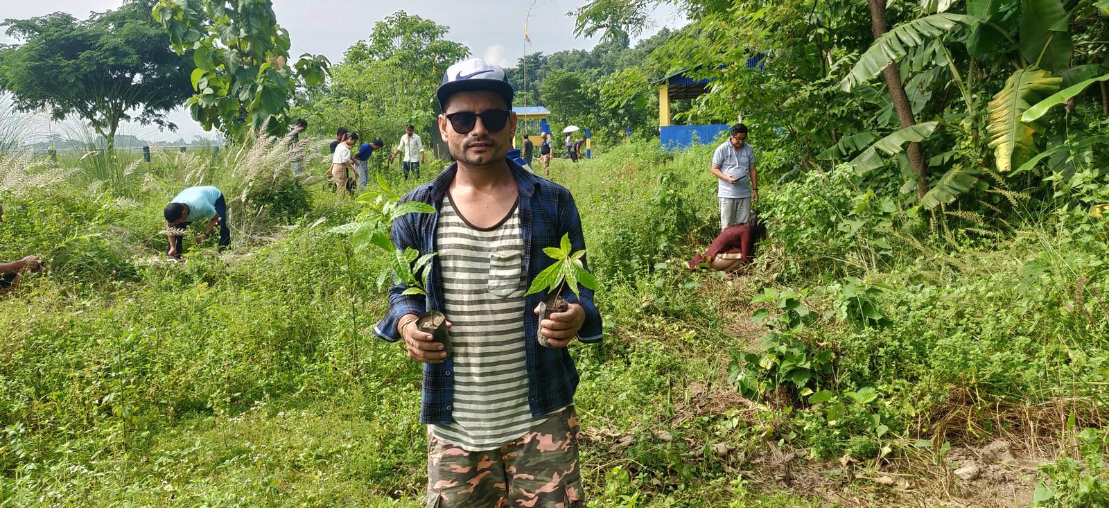 Rudraksha Plantation Program At Mechi Bishramalaya Rotary Club Of Kakarvitta 25