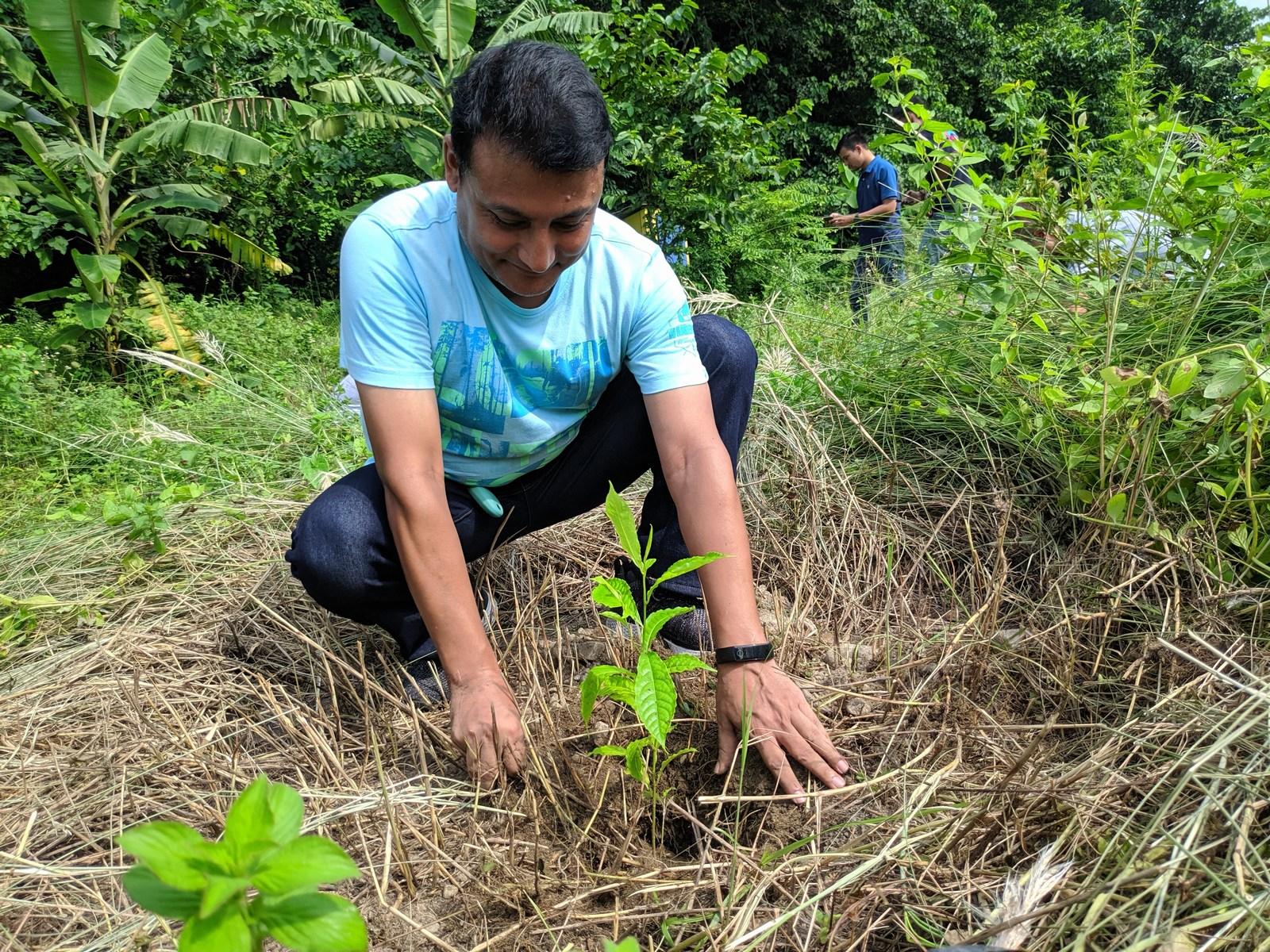 Rudraksha Plantation Program At Mechi Bishramalaya Rotary Club Of Kakarvitta 27