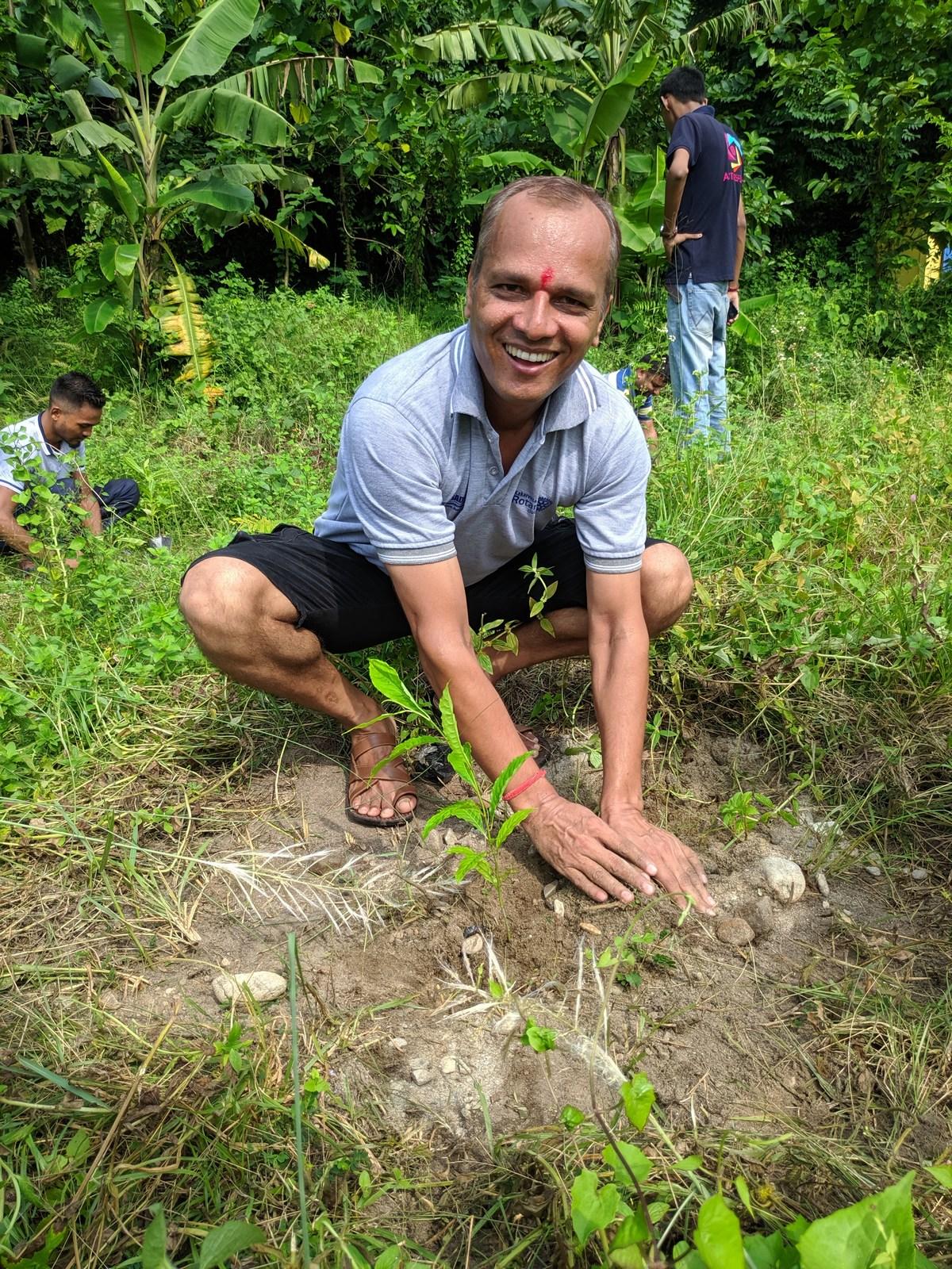 Rudraksha Plantation Program At Mechi Bishramalaya Rotary Club Of Kakarvitta 28
