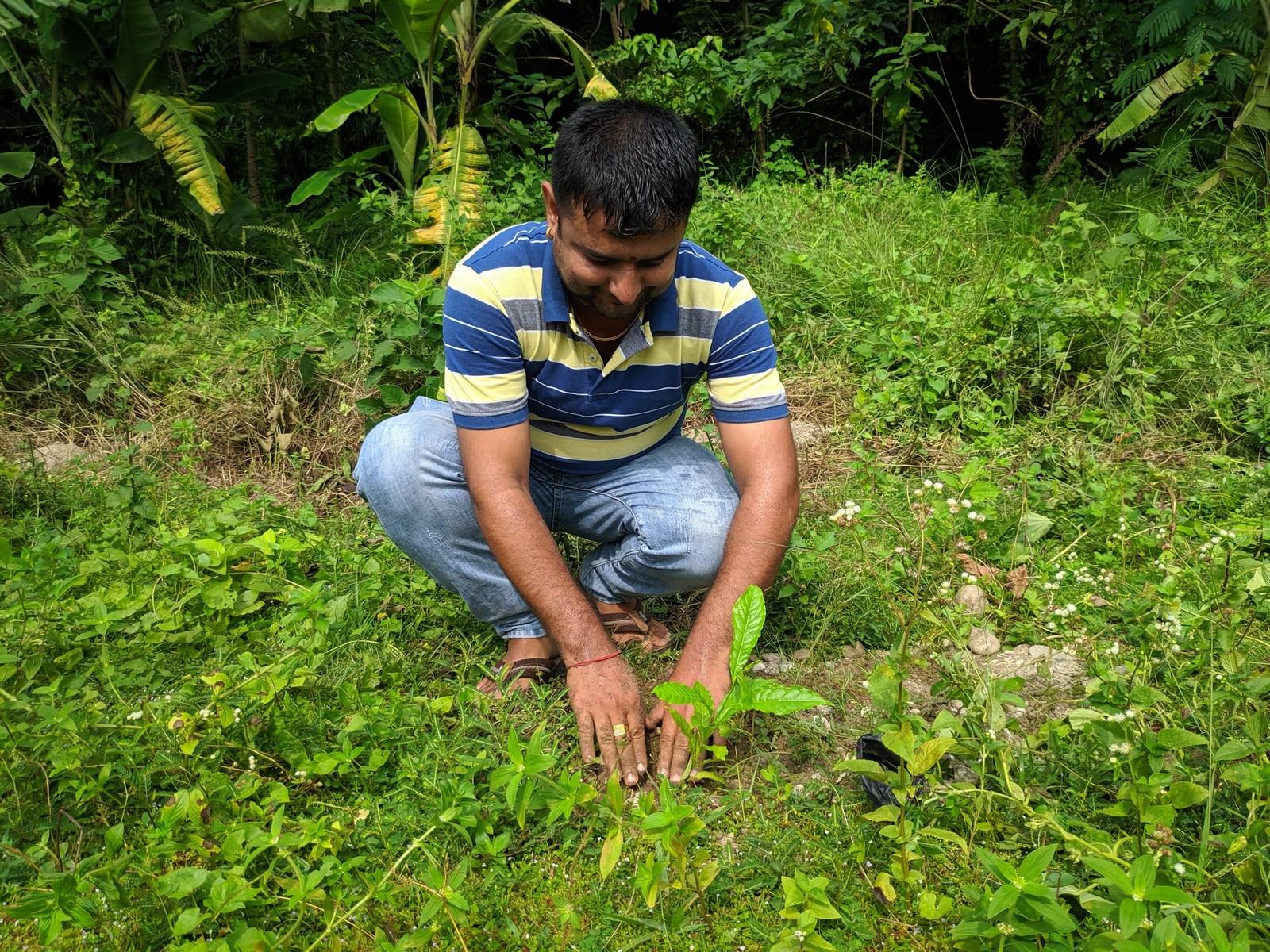 Rudraksha Plantation Program At Mechi Bishramalaya Rotary Club Of Kakarvitta 29