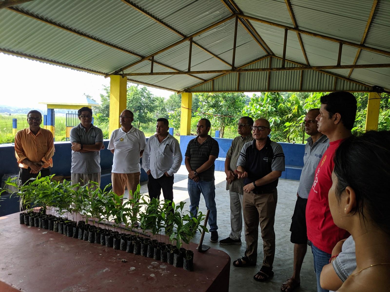 Rudraksha Plantation Program At Mechi Bishramalaya Rotary Club Of Kakarvitta 3