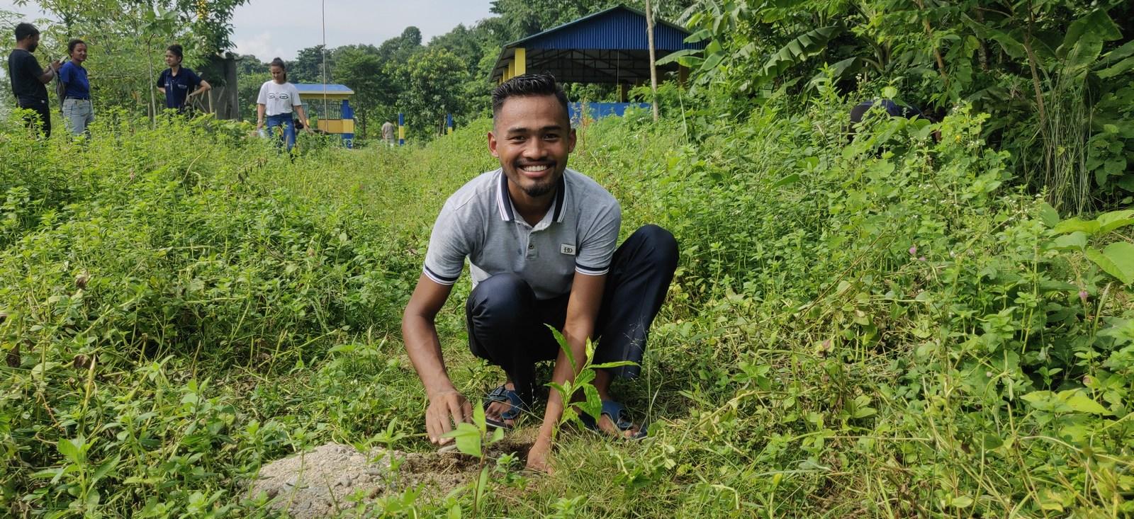 Rudraksha Plantation Program At Mechi Bishramalaya Rotary Club Of Kakarvitta 30