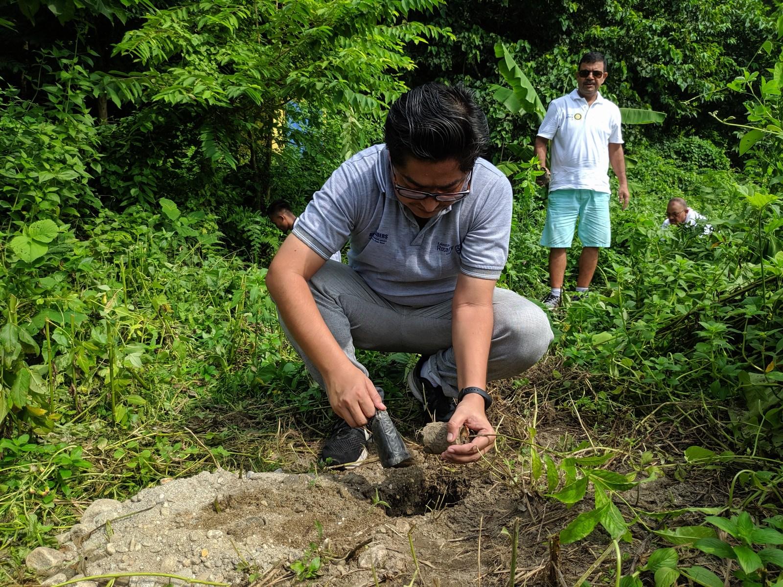 Rudraksha Plantation Program At Mechi Bishramalaya Rotary Club Of Kakarvitta 31