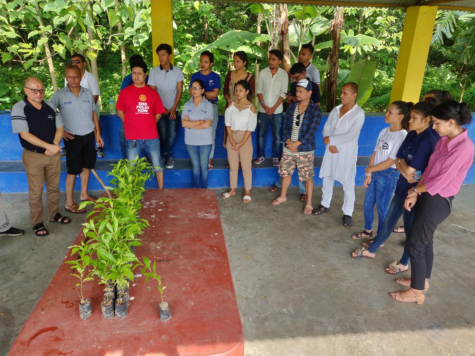 Rudraksha Plantation Program At Mechi Bishramalaya Rotary Club Of Kakarvitta 5
