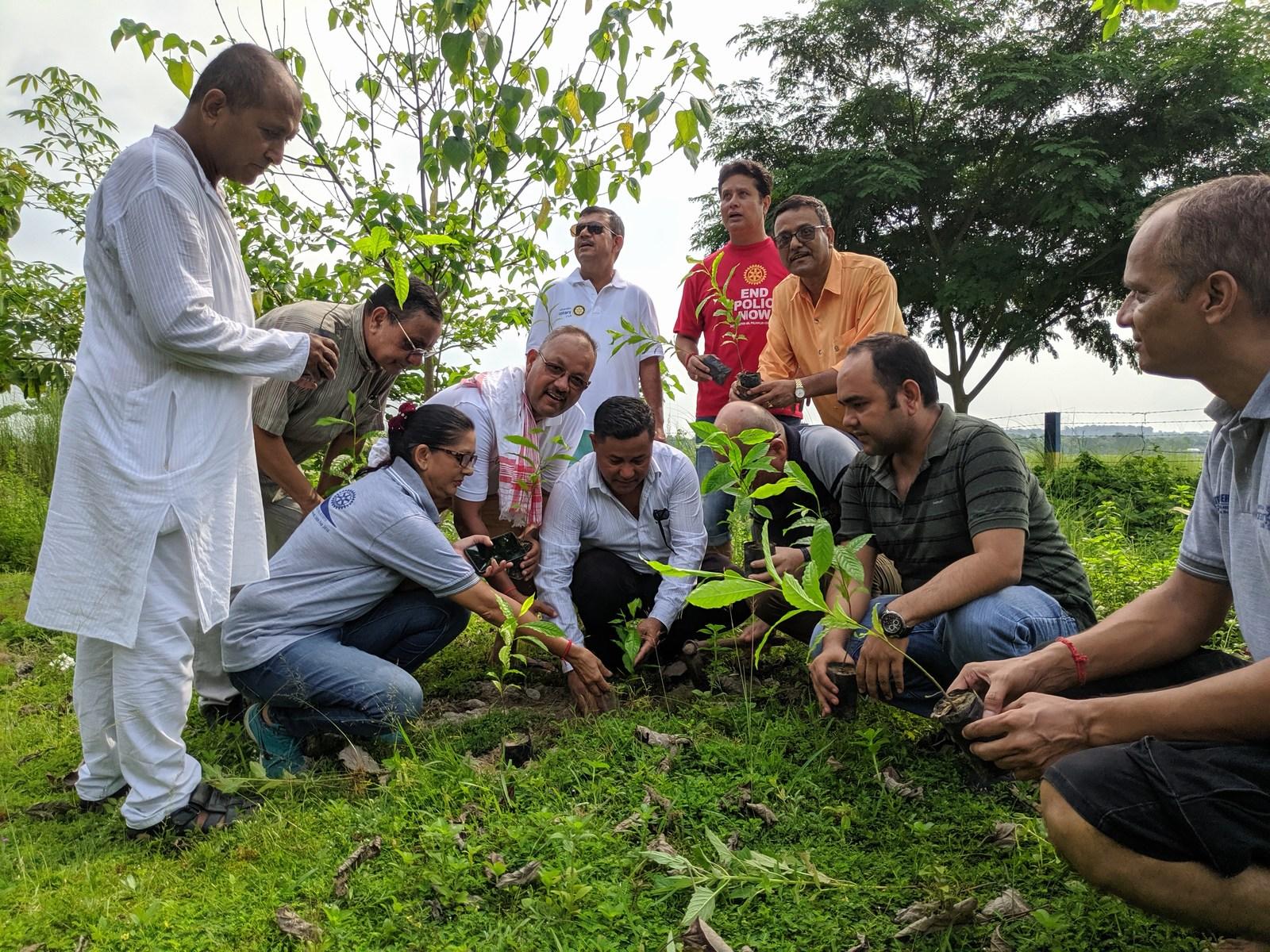 Rudraksha Plantation Program At Mechi Bishramalaya Rotary Club Of Kakarvitta 6