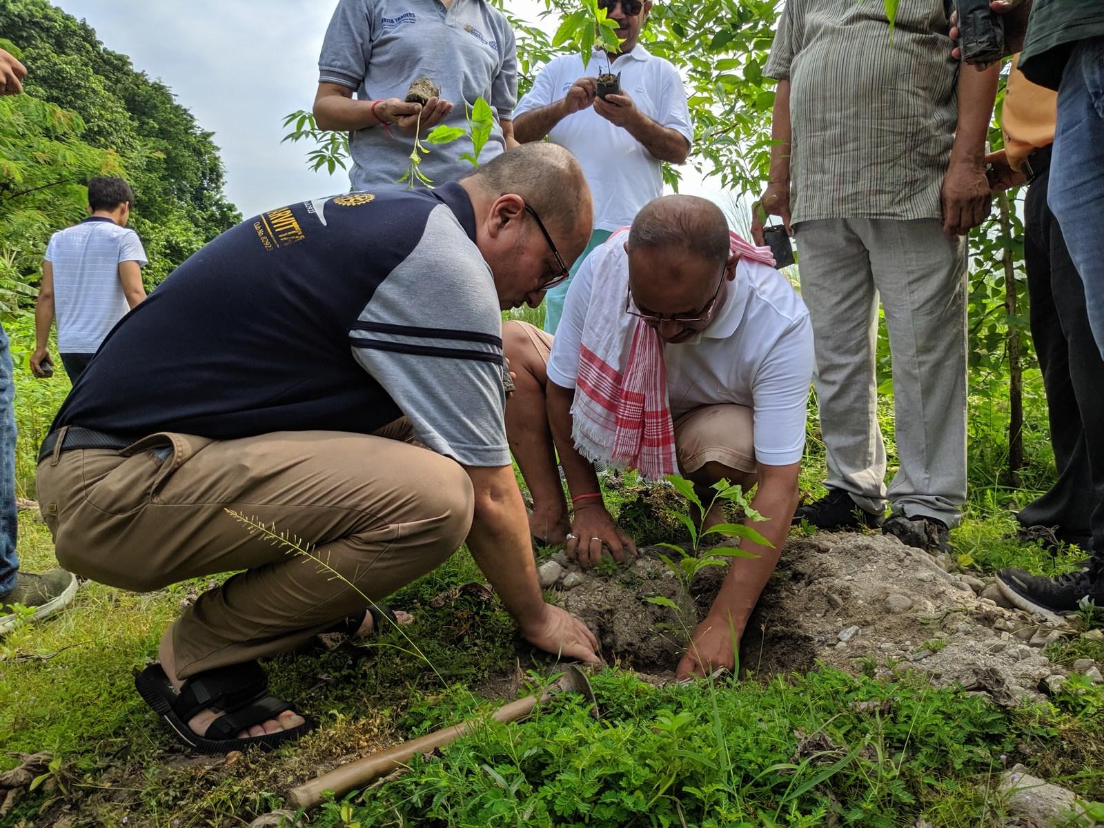 Rudraksha Plantation Program At Mechi Bishramalaya Rotary Club Of Kakarvitta 8