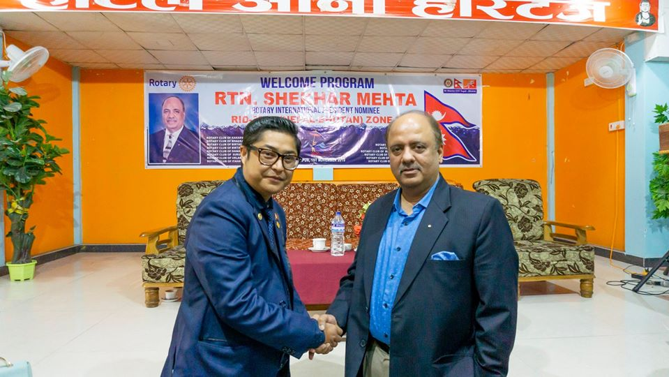 Welcoming Ripn Shekher Mehta To Nepal 11