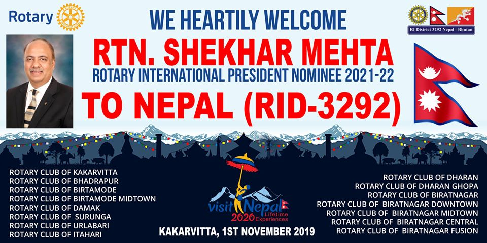 Welcoming Ripn Shekher Mehta To Nepal 2