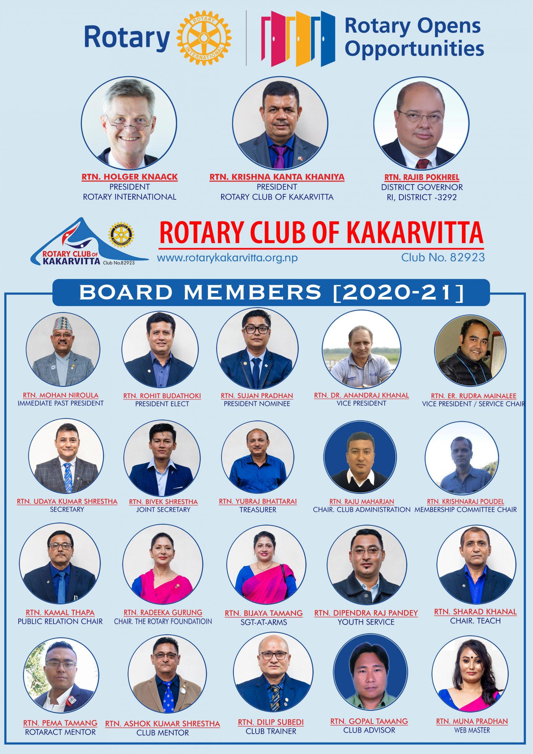 Rotary Board 2020 21