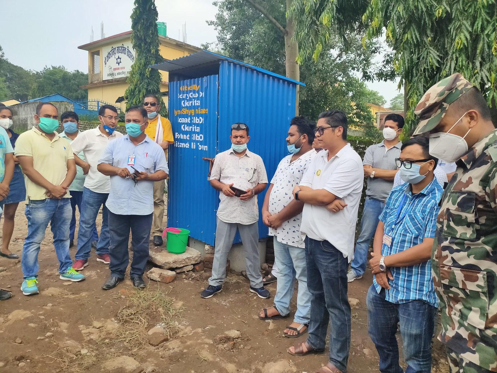 Temporary Toilet Handover To Holding Center Kakarvitta 1