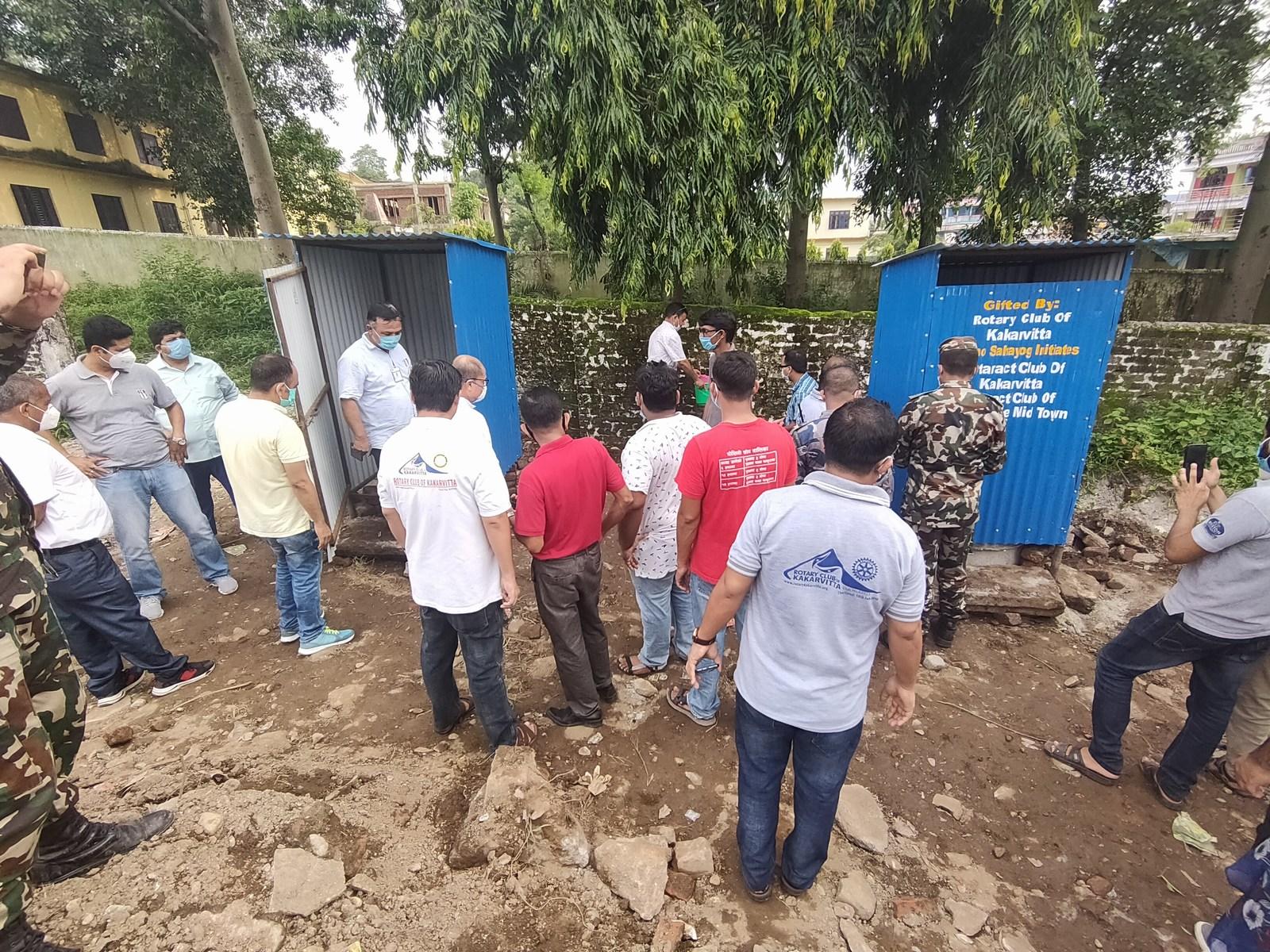 Temporary Toilet Handover To Holding Center Kakarvitta 2