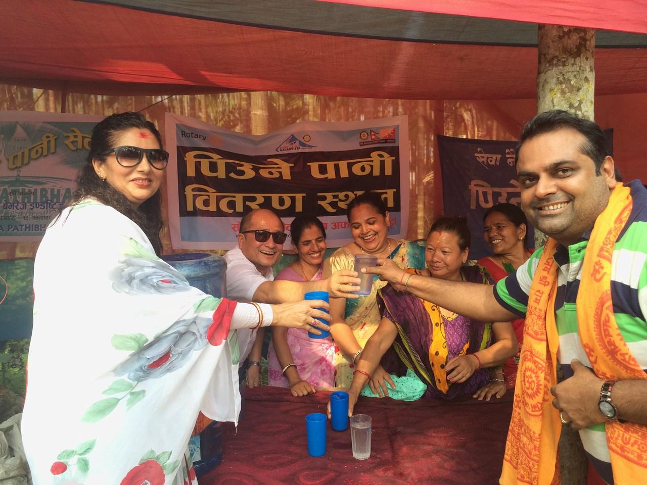 Drinking Water Distribution On Mahayagya Rotary Club Of Kakarvitta 15