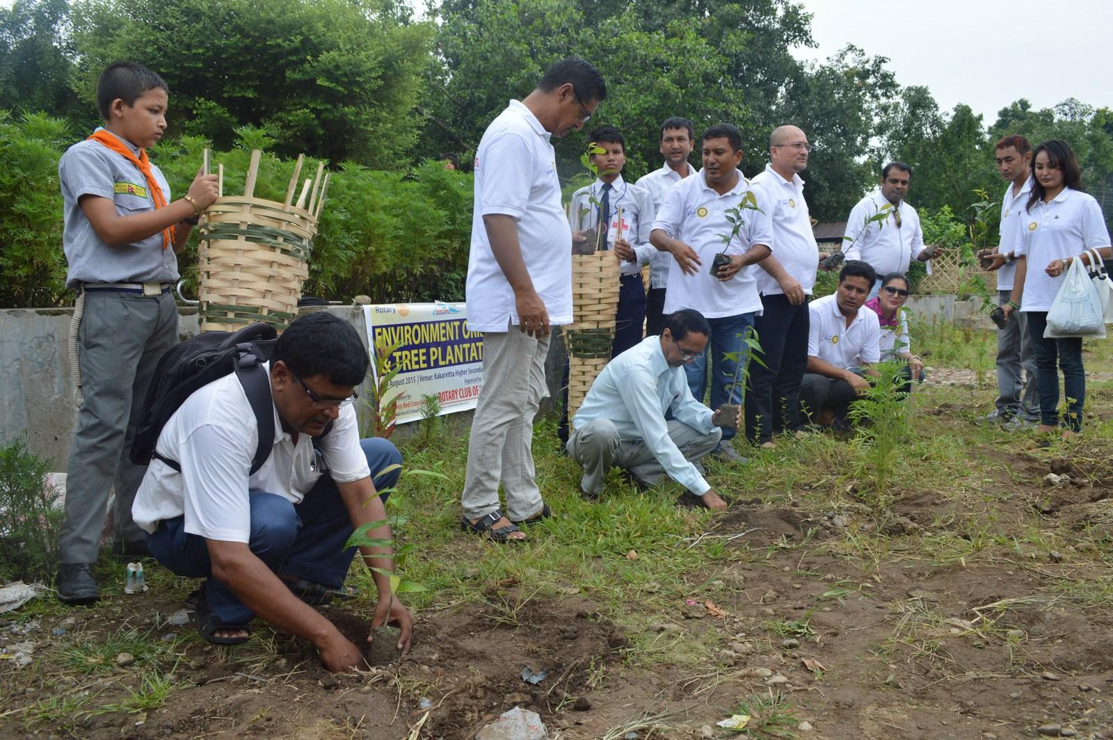 Enviroment Orientation Tree Plantation Rotary Club Of Kakarvitta 10
