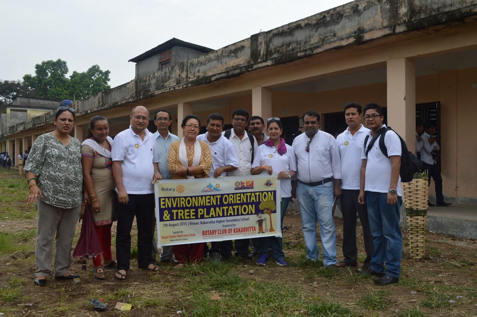 Enviroment Orientation Tree Plantation Rotary Club Of Kakarvitta 17