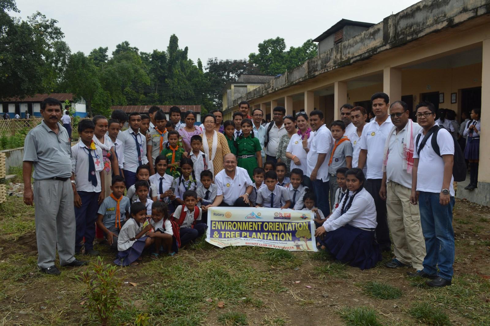 Enviroment Orientation Tree Plantation Rotary Club Of Kakarvitta 18