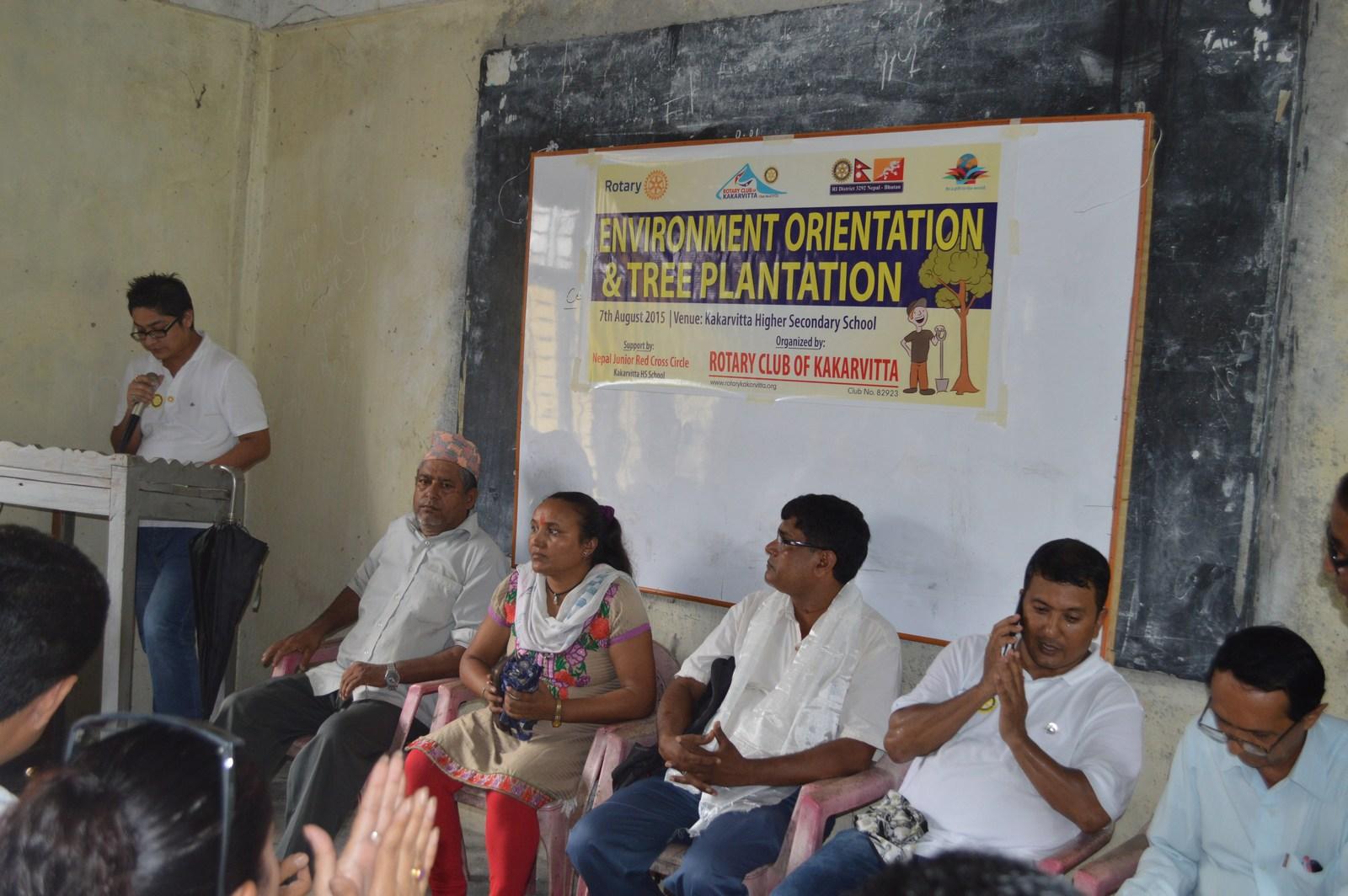 Enviroment Orientation Tree Plantation Rotary Club Of Kakarvitta 2