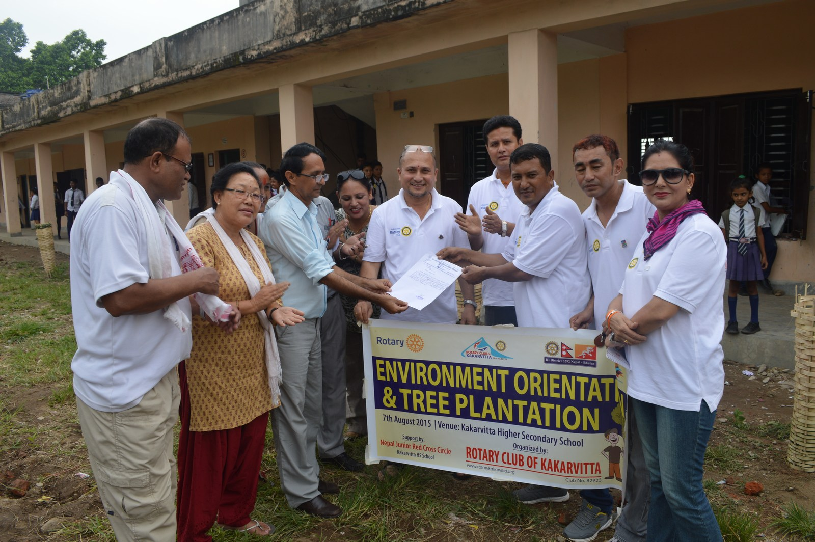 Enviroment Orientation Tree Plantation Rotary Club Of Kakarvitta 20