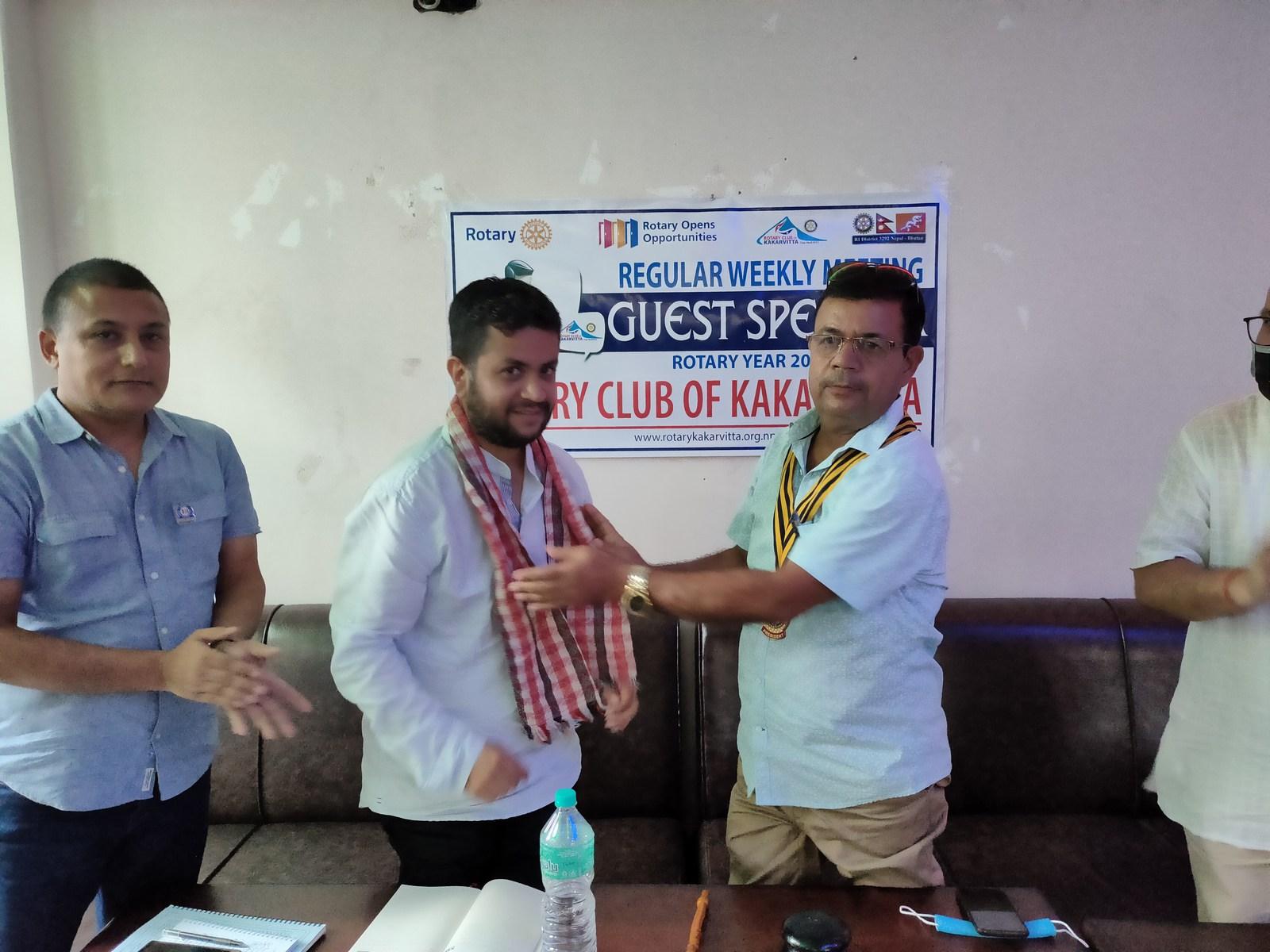 Guest Speaker Mr. Ujjwal Prasai Rotary Club Of Kakarvitta 1