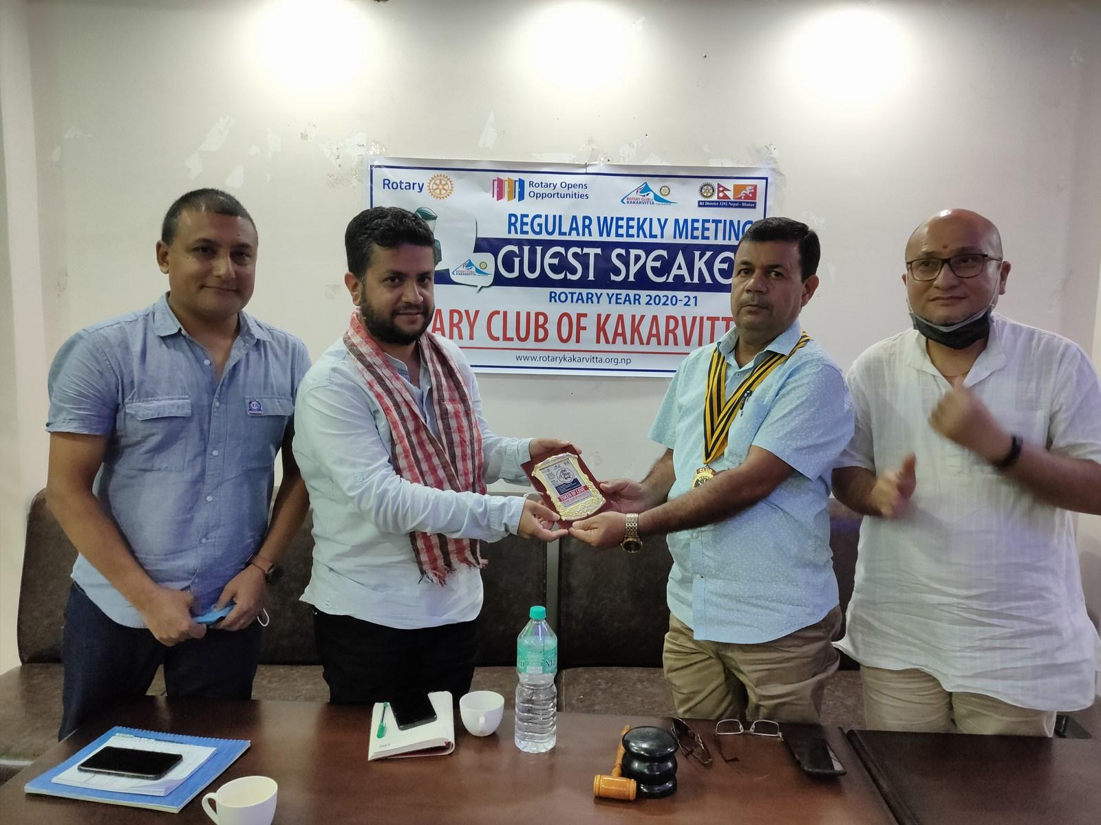 Guest Speaker Mr. Ujjwal Prasai Rotary Club Of Kakarvitta 11