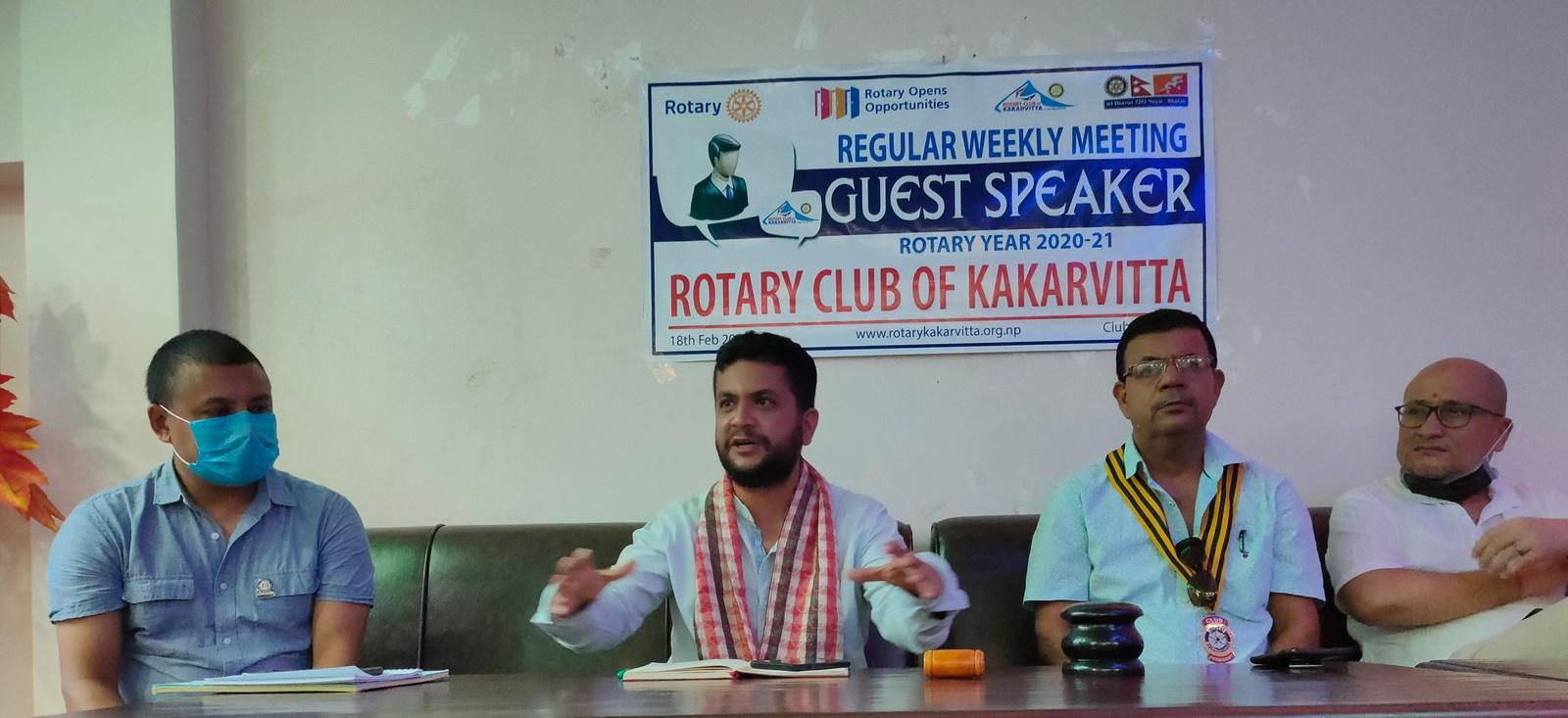 Guest Speaker Mr. Ujjwal Prasai Rotary Club Of Kakarvitta 2