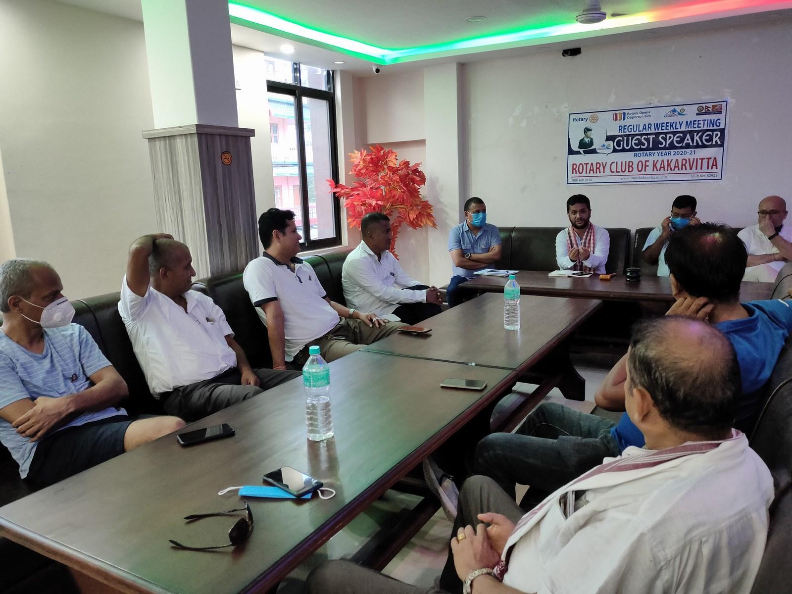 Guest Speaker Mr. Ujjwal Prasai Rotary Club Of Kakarvitta 3