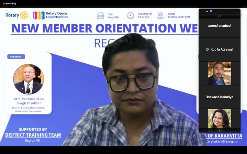 New Member Orientation Webinar Region 7 Rotary Club Of Kakarvitta 2