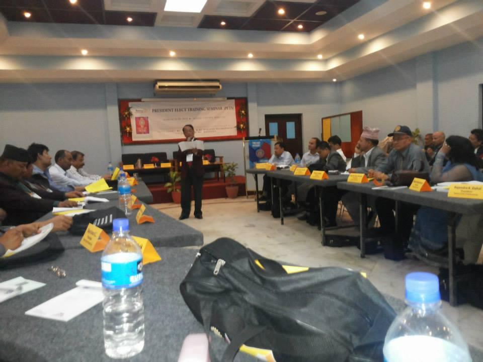 President Elect Training 2014 1