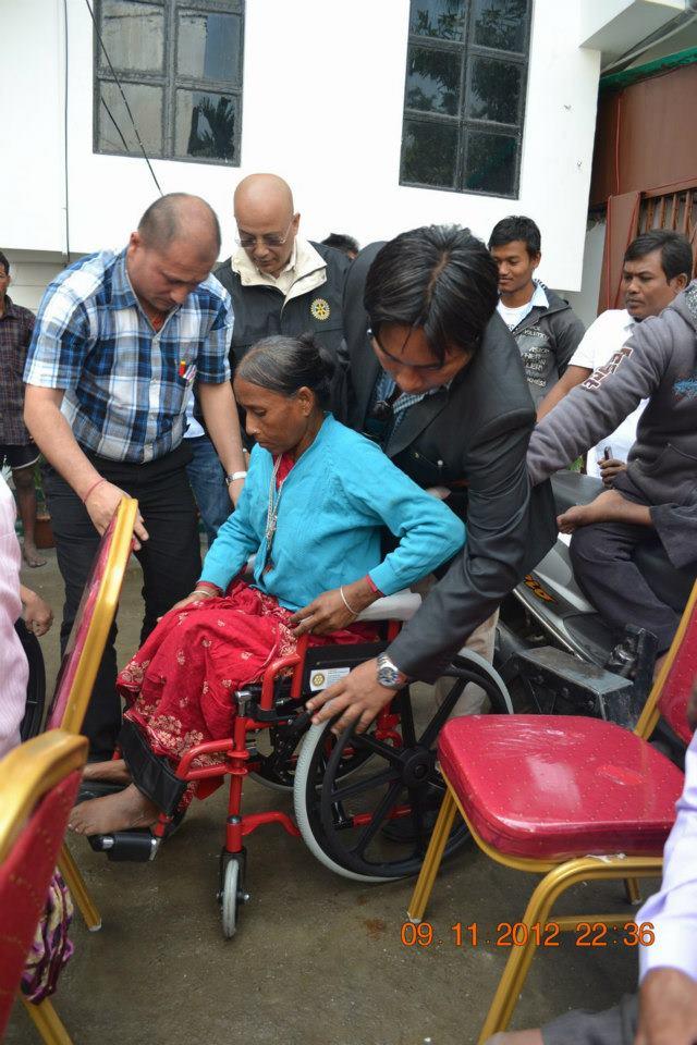Wheel Chair Distribution Rc Kakarvitta 10
